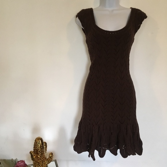 Moda International Dresses & Skirts - MODA INTERNATIONAL brown sweater dress
